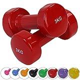 BB SPORT 2 x Vinylhantel 0.5 kg - 5 kg Vinyl Hantel Set in verschiedenen Farben