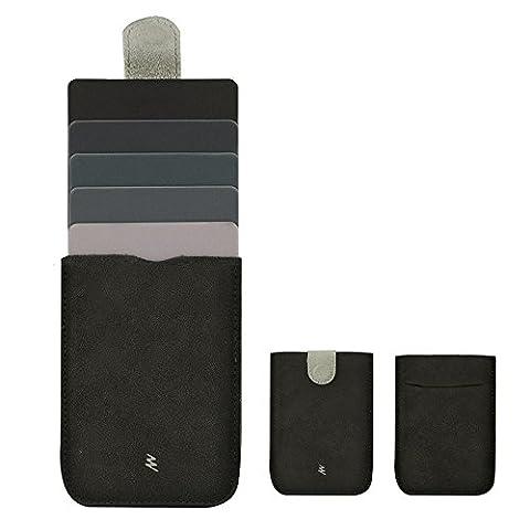 BestFire Thin Unisexe Card Case Compact Card Holder Wallet Fashion Ultra-léger pour les Cartes de Crédit / ID / Carte Commuter / Porte-Monnaie / Coins Pouch, Pull Out Tab