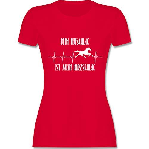 lag ist Mein Herzschlag - S - Rot - L191 - Damen Tshirt und Frauen T-Shirt ()