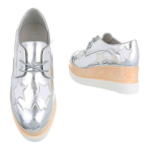 buyAzzo Plateforme Femme Silber