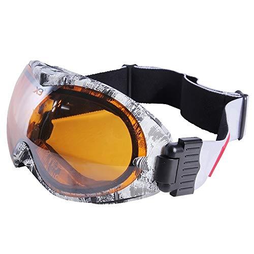 Yiph-Sunglass Sonnenbrillen Mode X3 SG-2 Doppel-Anti-Fog-Objektiv Skate Ski Snowboardbrille mit verstellbarem, rutschfesten Riemen
