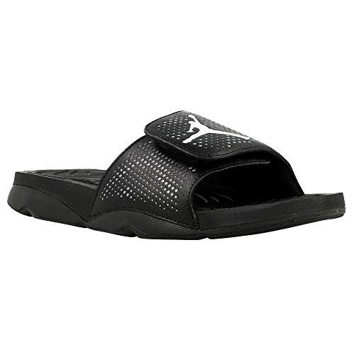 Nike Herren Jordan Hydro 5 Basketballschuhe, Schwarz / Weiß / Grau (Schwarz / Weiß-Cool Grey), 44 EU