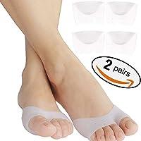 2 pares de almohadillas de pie para cojines de metatarsianos alivio del dolor. Almohadilla de