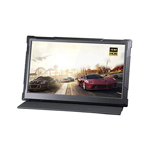 G-STORY 15,6 Zoll UHD 4K 2160P augenfreundlicher mobiler Gaming-Monitor für PS4, Xbox One (gehört nicht zum Lieferumfang) mit FreeSync, USB Type-C, HDMI-Kabel, integriertem Lautsprecher,Vesa Option,