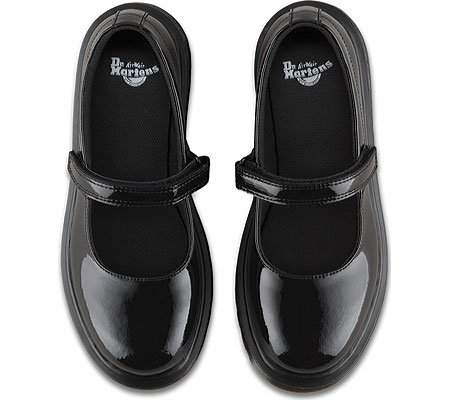 Dr Martens Maccy Y Black Patent Youth Mary Jane Shoes Schwarz