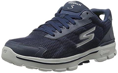 Skechers Men's GOwalk 3 FitKnit Fitness Shoes, Blue (NVY), 10 UK (44.5 EU)