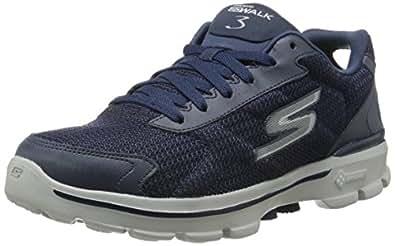 Skechers Go Walk 3Fit Knit - Sneakers Basses Homme - Bleu (Navy Nvy) - 40 EU (6.5 UK)