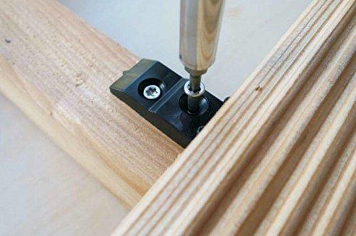 Unsichtbare Befestigung für Terrassendielen auf Holz-Unterkonstruktion mit 4 mm Abstandhalter inklusive V2A Schrauben, unsichtbare Terrassenbefestigung