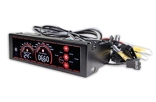 Fonrest Contrôleur de vitesse du ventilateur et de température avec écran tactile LCD à 6canaux et Wi-Fi 13,3cm Red