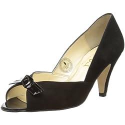 Van Dal Heydon, Damen Peep Toes , Schwarz - schwarz - Größe: 35 (3 UK)