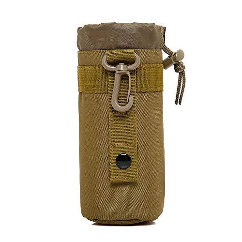 Huntvp Taktisch Flaschenhalter Militär Trinkflasche Beutel Molle 1000D Nylon Kessel Wasserflaschenhalter Langlebig Bottlehalter Bottel Carrier Wasserdicht - Braun 550mL