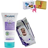 Himalaya Herbals Baby Cream (200g)+Himalaya Herbals Soothing Baby Wipes (72 Sheets) With Happy Baby Luxurious Kids Soap With Toy (100gm)