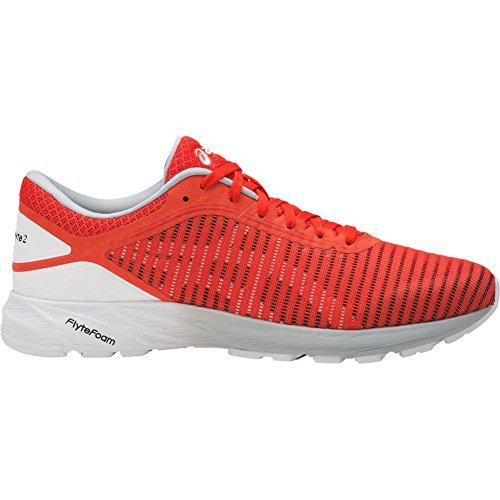 ASICS Dynaflyte 2 Shoe Men's Running 7 Cherry Tomato-White-Mid Grey