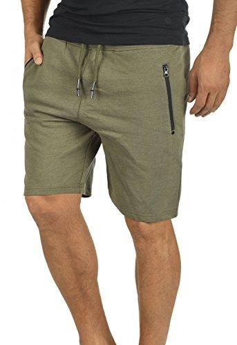 !Solid Taras Herren Sweatshorts Kurze Hose Jogginghose mit Verschließbaren Eingriffstaschen und Kordel Regular Fit, Größe:XL, Farbe:Ivy Green Melange (8797)