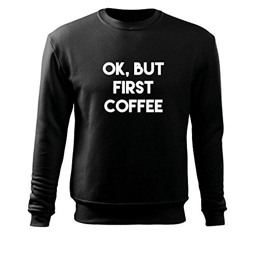 Männer Langarmshirt Ok but first coffee witzig bedrucktes Funshirt Fun T-Shirt Männershirt Muskelshirt mit Motiv - Neu S-XXXL (Albanische Tracht)