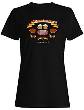 Oktoberfest con elementos diseño plano camiseta de las mujeres g950f