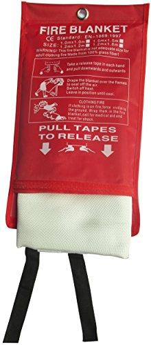 Tonyko® Fiberglas-Löschdecke für Notüberleben, flammhemmender Schutz und Wärmedämmung mit verschiedenen Größen(2*2m) (Kamin Hohe Decken,)
