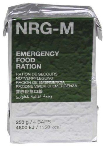 Notverpflegung, NRG-M, 250 g, (4 Riegel), 7 {d30201aa1b217df554214f4f4518d00fb439953bac4172e1f27cab1d84ab0933} MwSt