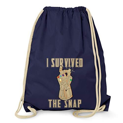 NERDO I survived the Snap - Turnbeutel, navy Navy Snap