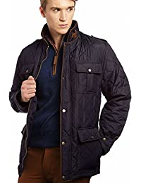 VEDONEIRE Mens Quilted Fleece Lined Jacket (3047 NAVY) blue padded winter coat