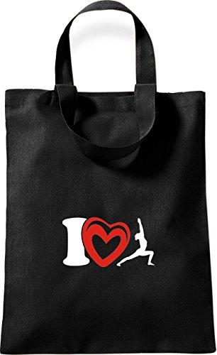 Sport Joga Love kleine Baumwolltasche Farbe Gymnastik Rot I ShirtInStyle Schwarz Yogo xpqBUZ6Zw