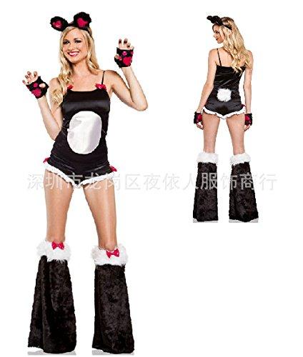 Gorgeous Nachtclubs Bühnenauftritte ds Rolle spielen Halloween-Kostüm Katze Frauen sexy cosplay Katzendamen