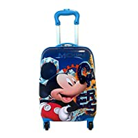 """Children Kids Holiday Travel Character Suitcase Luggage Trolley Bags 18"""" Micky Mouse"""