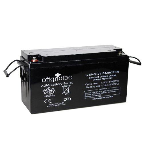 Offgridtec® AGM 154Ah 20HR 12V - Solar Batterie Akku Extrem zyklenfest