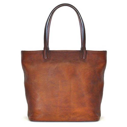 Pratesi Monterchi borsa in vera pelle - B461 Bruce (Blu Elettrico) Arancio