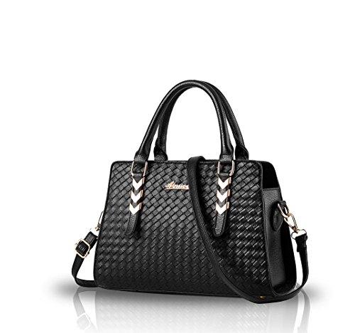 Nicole&Doris 2017 nuovo portafogli borsa a tracolla donna stereotipi Uomini Messenger Bag(Black) Black