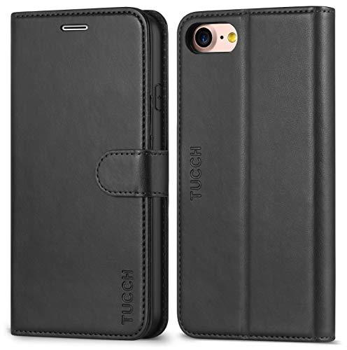 TUCCH iPhone 8 Hülle, iPhone 7 Case Handyhülle [Buchstil] [Softer TPU] Schutzhülle Lederhülle [Lifetime Garantie] Handytasche [Aufstellfunktion] Kartenfach Magnet Kompatibel für iPhone 7/8 4.7