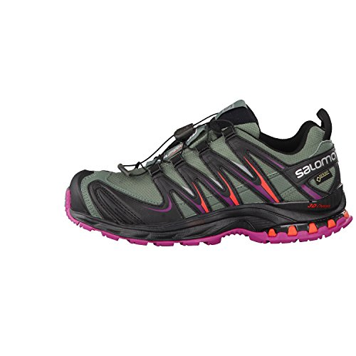 Salomon  XA PRO 3D GTX, Chaussures de Trail femme Multicolore (Light Tt/Black/Coral Punch)