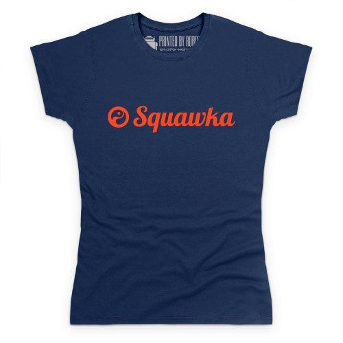 Squawka Logo T-Shirt, Damen Dunkelblau