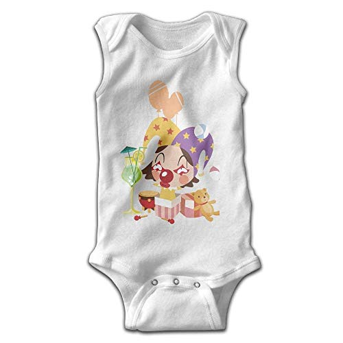 fhcbfgd Toddler Baby Girl's Sleeveless Rompers Clown Outfit Bodysuit