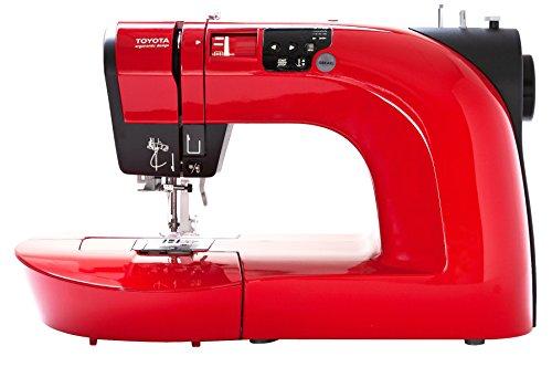 Toyota OEKAKI50 - Máquina de coser, 50 W, 50 programas, color rojo