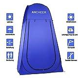 ANCHEER Ultraleichtes Segeltuch Umkleidezelt Pop up Zelt tragbares Duschzelt Outdoor WC Zelt Toilettenzelt für Camping (Blau)