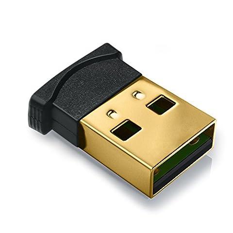 CSL - USB nano Bluetooth-Adapter V4.0 | Version 4.0 Technologie | neuester Standard | Plug & Play | Windows 10