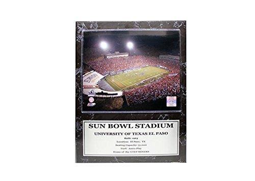 Encore Select 524-32NCAA Texas EL PASO Miners Sun Bowl Stadium STAT Gedenktafel mit Foto, 12Zoll von 15Zoll