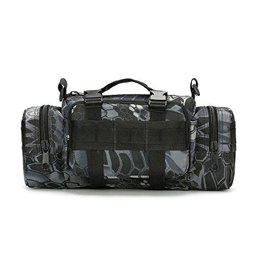 Tactical Taille Pack Deployment Bag Military MOLLE Fahrrad/Motorrad 3P Wasserdicht Fanny Packungen Kamera Tasche Camo EDC Utility Pouch Hand Tragen, Python Black Samsung Galaxy S3 Camo