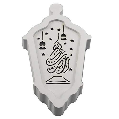 iShine Holzanhänger für Eid Ramadan Dekoration Set Eid DIY Dekorationen Islam Ramadan Ornament Gurban Festival Anhänger