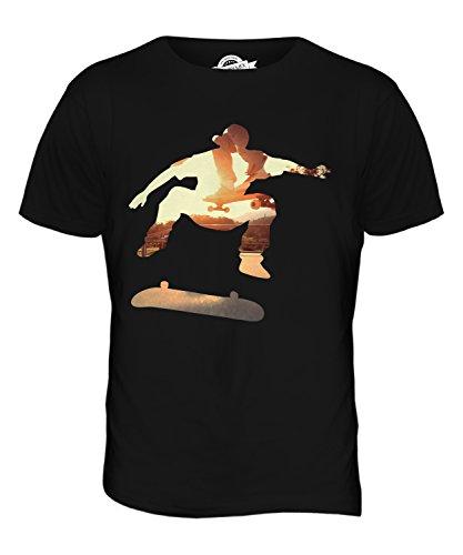 CandyMix Skateboardfahrer Herren T Shirt Schwarz