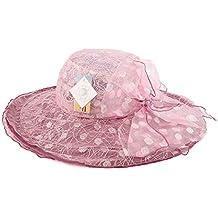 Lady Sun Hat Sombrero - Sombrero de Sol para Mujer Sombrero de Playa  Plegable al Aire 2355a80d183