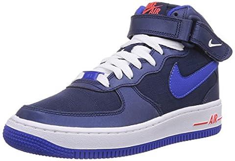 Nike Air Force 1 Mid 06 (gs), Chaussons Sneaker Garçon - Bleu (mid Nvy/lyn Bl-white-brght Crm), 38 EU