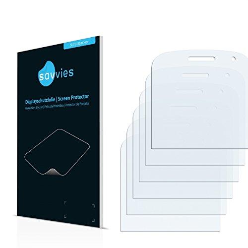 6x Savvies SU75 UltraClear Displayschutz Schutzfolie RIM BlackBerry Bold Touch 9930 (Kristallklar, Blasenfreie Montage, Passgenauer Zuschnitt)