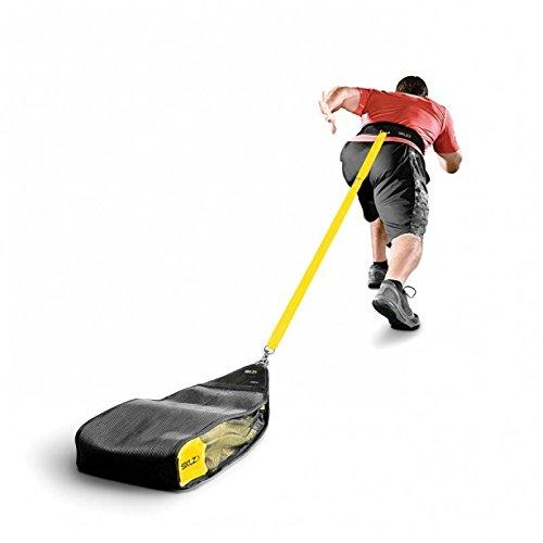 SKLZ Gewichtsschlitten Speedsac - Indoor und Outdoor Widerstandssprinttrainer, gelb schwarz