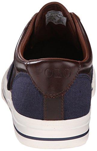 Polo Ralph Lauren Vaughn Saddle Fashion Sneaker Indigo Blue/Polo Tan