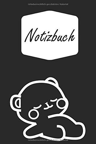 Notizbuch: Chilliger schlafender Bär in Comic und Cartoon Stil | geeignet als Tagebuch, Notizheft, Skizzenbuch und Schulheft | für Kinder: Mädchen und ... | liniertes Papier | Soft Cover | 100 Seiten)