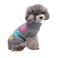 Walaha Pet Dog Cat Cute Dog Puppy Clothing Winter Warm Love Sweater Coat Costume Apparel