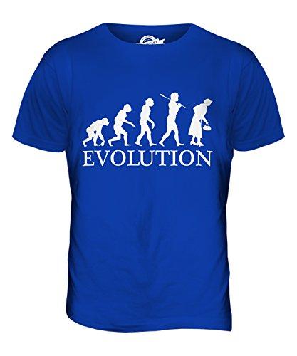 CandyMix Ältere Frau Evolution Des Menschen Herren T Shirt Königsblau