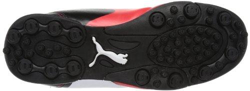 Puma Universal Tt V Jr, Chaussures de football garçons Blanc - Weiß (white-high risk red-black 04)